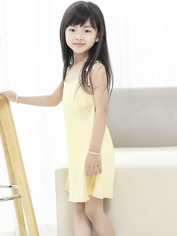 19 Momme Cute Silk Slip Nightgown For Girls